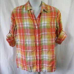 Jones New York Linen Shirt Sz XL Cool & Comfy